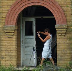 Closeup (tantrum_dan) Tags: school building brick abandoned photographer florida olympus doorway e500 wauchula popash tantrumdan tantrumimagery