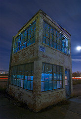 BLDG #10 (Noel Kerns) Tags: abandoned night globe ruins factory texas aircraft swift bluemound amazingtalent