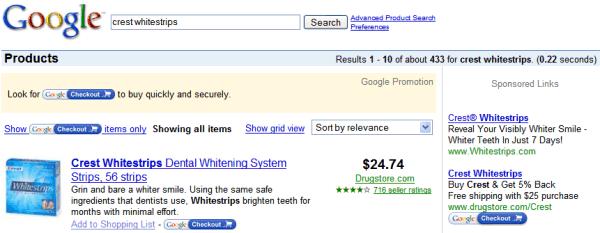 Google CheckOut-Wahn