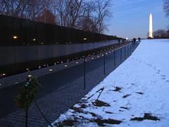 Vietnam Memorial, Washington DC (PDR) Tags: city winter urban usa snow night america washingtondc capitol vietnammemorial washingtonmonument pdr seasonsatthewall