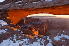 Mesa Arch Sunrise II (KPieper) Tags: snow sunrise landscape utah glow arch searchthebest canyonlands mesaarch supershot kpieper pieperphotographynet
