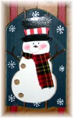 Snowman w sled
