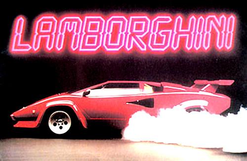 Lamborghini old poster