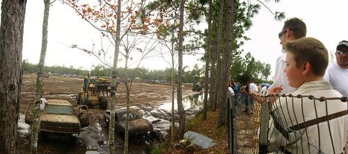 Mudhole 4x4 madness near Inglis on US19 highway, Florida, USA