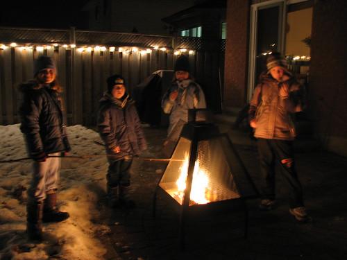 Making winter smores