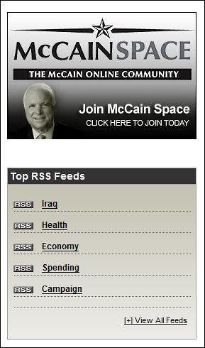 John McCain's Blog RSS Options