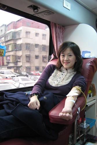 浮腫的人捐血