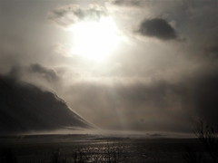 Blizzard (Eln Elsabet) Tags: sky sun snow clouds landscape iceland blizzard explored ohidolovethewordblizzard