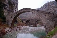 old stone and new brige in Zagorohoria