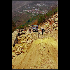 Road from Nepal to Tibet - Year 2000 (Katarina 2353) Tags: china road travel mountain film photography nikon asia flickr image paisaje tibet paysage priroda himalayas pejza tibetanlandscape katarinastefanovic katarina2353