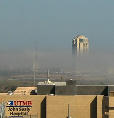 Foggy Tidal Wave () Tags: ocean sea vacation sky galveston building tower ariel fog clouds john palms mexico island grey university branch texas gulf floor horizon gray wave peak off graves resort medical research highrise 11th palisade expensive galvestonisland tidal condominium truman arial blocker utmb mrb sealy johnsealy universityoftexasmedicalbranch palisadepalms