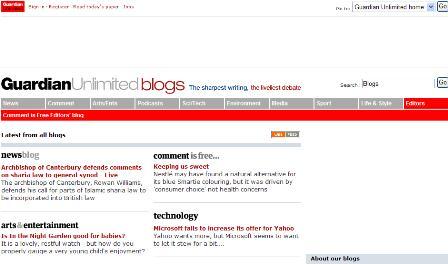 Guardian blogs
