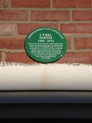 Photo of Cyril Smith green plaque