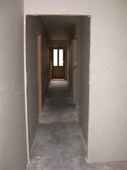 Looking Down the Hallway Sheeting