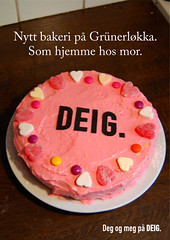 DEIG. poster (steffoleffo) Tags: pink home kitchen cake poster typography design graphic sweet dough sugar identity moms safe lettering visual deig caslon