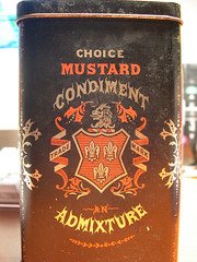 Mustard 01 (Cristian Mantovani) Tags: rock vintage typography design graphic browns valley type condiment mustard boxes choice lettering mills mansfield barringer admiture