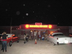The parking lot at the Broken Spoke (mollyali) Tags: parkinglot dancing cadillac austintx brokenspoke honkytonk twostepping
