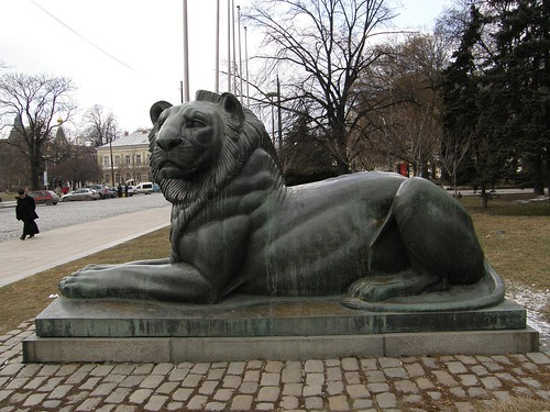 Lion at the War Memorial