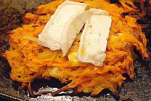 Sweet Potato & Goat's Cheese Rosti
