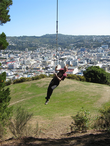 Mt. Vic rope swing 2