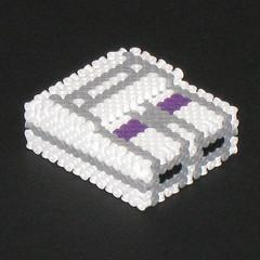 Super Nintendo 3D Bead Sprite (Doctor Octoroc) Tags: nintendo videogames console snes supernintendo hamabeads perlerbeads beadsprite doctoroctoroc