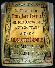 emily jane and charlotte (annette62) Tags: church memorial yorkshire haworth charlottebronte brontes emilybronte