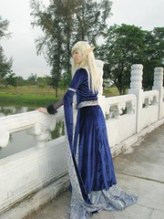at the bridge... (raveneve2) Tags: singapore cosplay magic sting gothic medieval elf fairy fantasy rpg faire chinesegarden renaissance elves lordofthering