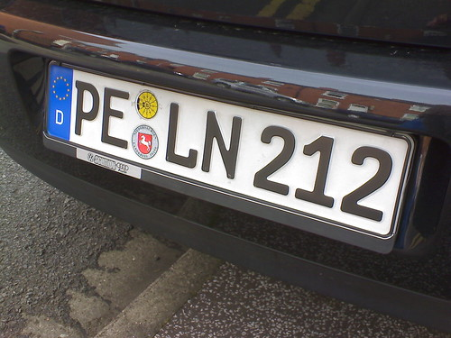Real German Plate