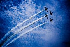 כחול ולבן. ושחור. (Shemer) Tags: sky clouds plane airplane army israel telaviv airplanes planes independenceday shemer יוםהעצמאות aerialdemonstration מטס שמר shimritabraham שימריתאברהם