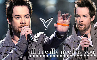 All I Really Need Is David Cook!