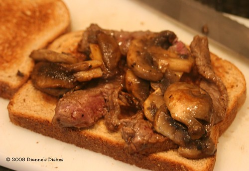 Steak Sandwich: Ready for Cheese