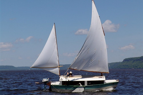 Wooden Boats On Lake Pepin - Bolger micro trawler boats