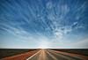 wide open road (sadaiche (Peter Franc)) Tags: road street clouds flat scenic dramatic australia wideangle tokina outback desolate southaustralia westernaustralia 1224 nullarbor nullabor notrees 400d bestofaustralia kangaroomedal