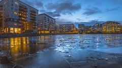 Sjövikskajen, Ice (photomatic.se) Tags: ifttt 500px cityscape architecture building night urban blue ice flakes sweden stockholm stockholms län