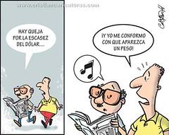No aparece (Caricaturascristian) Tags: escasez dólar dólares dollar pesos peso especulación alza empresarios industriales pobreza 47