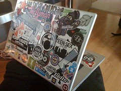 laptop stickers added/redone :) by tray, on Flickr