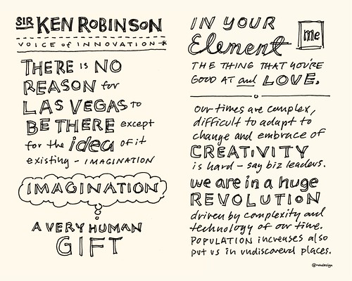 Chick-Fil-A Leadercast Sketchnotes 13-14 - Sir Ken Robinson