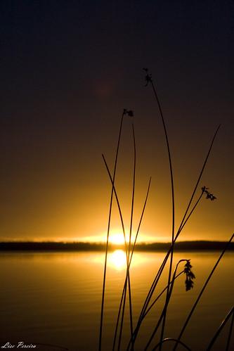 Pôr do sol...