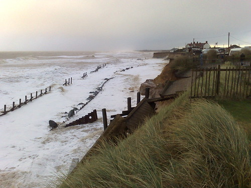Happisburgh beach two hours after high tide