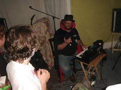 It's The Moped! (Danny White) Tags: sanfrancisco houseparty davidcox dangraham telescape dangrahamdebut110307 siestadave
