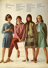 Garland Heathers (sugarpie honeybunch) Tags: fashion vintage magazine sweaters ad garland scan retro 1960s skirts blouses