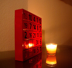 Mein Adventskalender / my Advent Calender (Suzanne's stream(slowly coming back)) Tags: reflection weihnachten advent candle kerze spiegelung adventkalender artisticexpression aplusphoto chrismas2007 adentcalendar