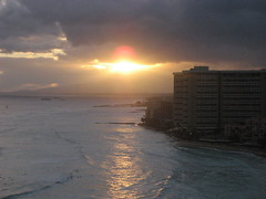 Waikiki (asahichoi) Tags: sunset hawaii waikiki oahu waikikisunset