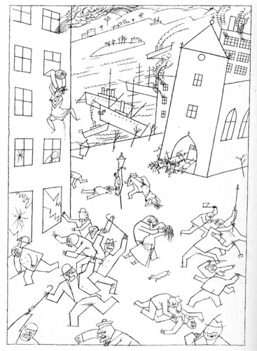 """Riot Of The Insane"" by George Grosz, 1915"