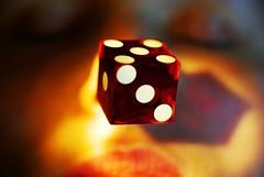 5...3...1 (alternativefocus) Tags: red dice macro face die pentax casino aficionados pentaxk10d colorphotoaward trashbit alternativefocus exquisiteimage