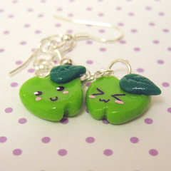 green apples (tinyfig) Tags: cute fun phone sweet handmade kitsch charm clay kawaii accessories charming polymer coonies