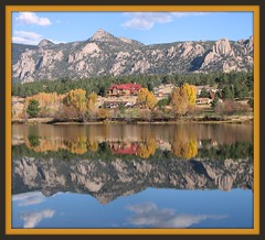 Lake Estes (MyAngel 27) Tags: mountain lake reflections fallcolors rockymountains estespark naturesfinest lakeestes blueribbonwinner lakereflections abigfave colorphotoaward artisticintegrity