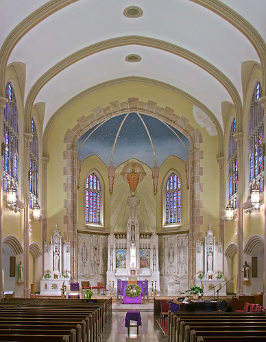 Saint Elizabeth, Mother of John the Baptist Roman Catholic Church in Saint Louis, Missouri, USA - nave 2