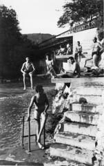 Plongeurs au pont de la Pyle