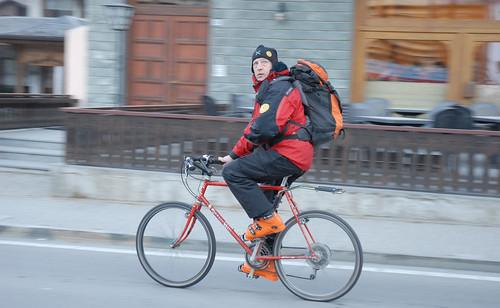 Sciatore ciclista